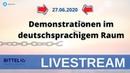 LIVE - Demonstrationen im deutschsprachigem Raum - Bern Darmstadt München Berlin Freiburg