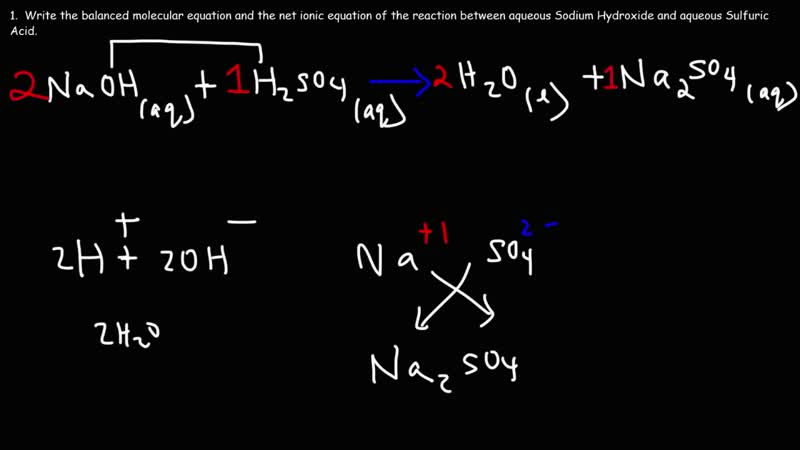 2020 Sodium Hydroxide Sulfuric Acid - Acid Base Neutralization Reaction - The Organic Chemistry Tutor 3 July