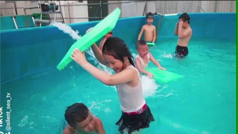 Gia Linh và em Cò đi tắm bể bơi sau khi thi học kì II xong phần 3