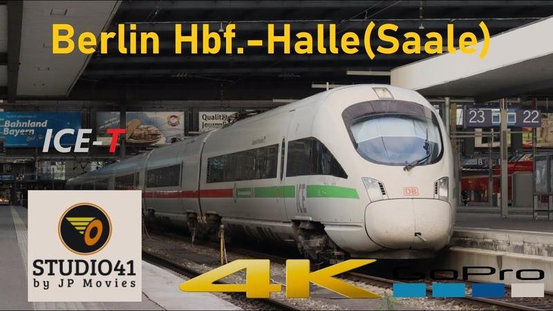 Führerstandsmitfahrt Berlin Hbf tief Halle Saale *ICE93* ICE T II BR411 415