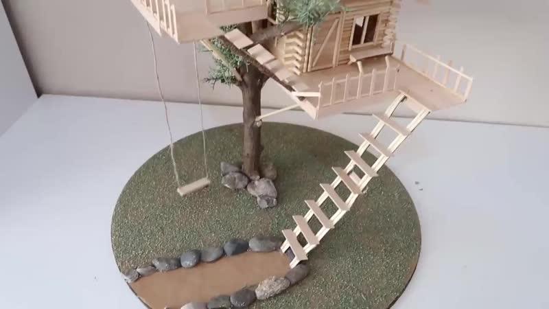 DIY Miniature Tree House Minyatür Ağaç Ev Nasıl Yapılır