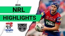 Knights v Warriors Match Highlights | Round 1 NRL 2020 | National Rugby League