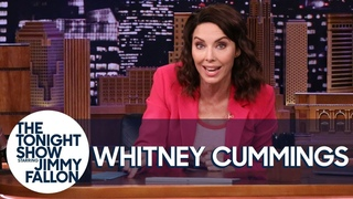 Whitney Cummings Swaps Places with Jimmy to Talk