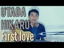 UTARA HIKARU - FIRST LOVE Live Cover by Saeful Misbah Acoustic Guitar
