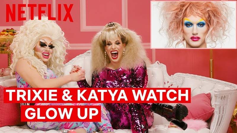 Drag Queens Trixie Mattel Katya React to Glow Up | I Like to Watch | Netflix