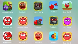 Red Ball 4, Red Ball 1, Red Ball 2, Red Ball 5, Bounce,Catch The Candy