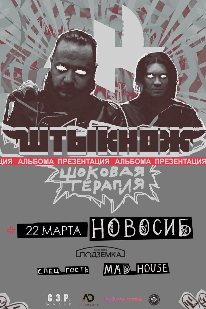 Афиша Новосибирск ШТЫКНОЖ НОВОСИБИРСК 22.03.21 КЛУБ ПОДЗЕМКА