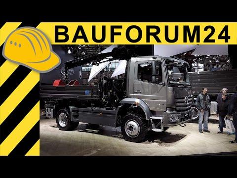 Mercedes Benz Atego 1530 4x4 LKW Baustellen Kipper Walkaround bauma 4K UHD