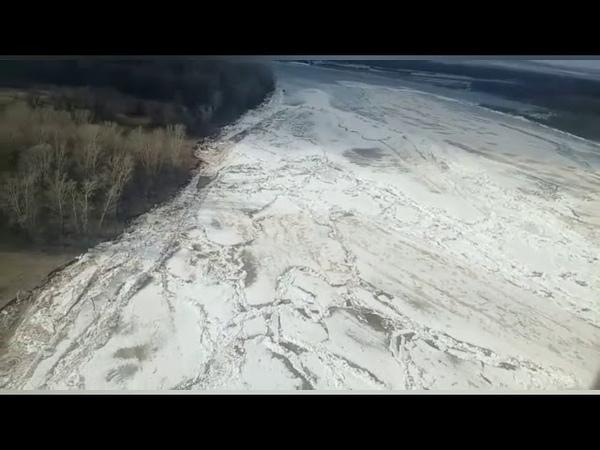 Татарстан Вертолёт Ми 8 МЧС России Воздушная разведка затора льда на реке Вятка