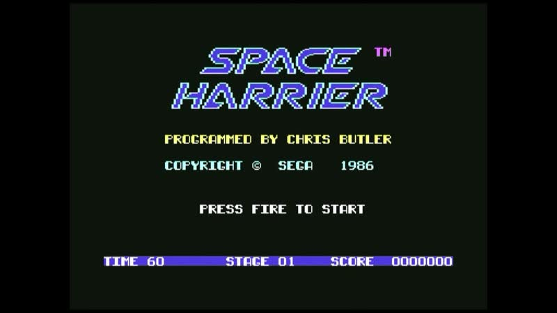 C64 UK Vs US Space Harrier