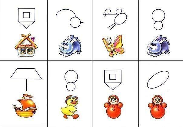 ДЕТСКОЕ ДОМИНО Загадочные картинки Игра развивает внимание, зрительное восприятие, абстрактное мышление.Как играть: выкладывать карточки по принципу картинка к картинке и схема к