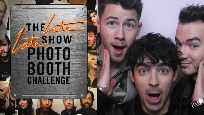 Three-Second Photo Booth Challenge w Jonas Brothers [RUS SUB]