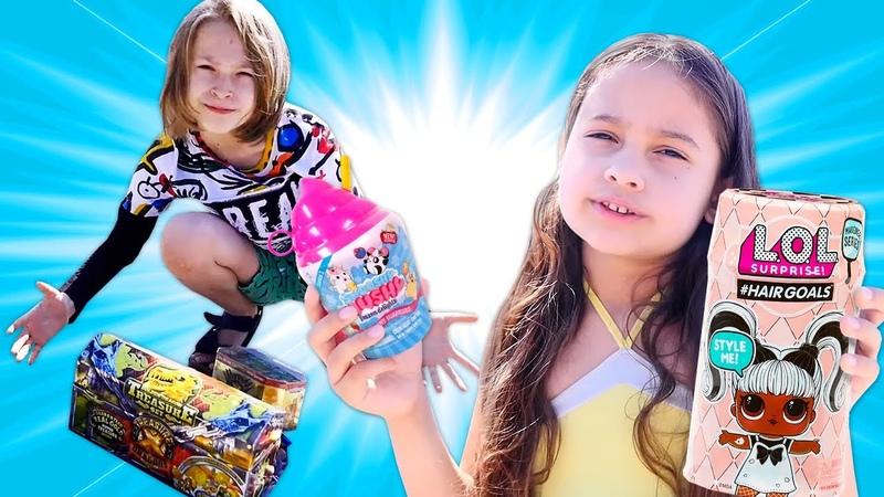 Selín encuentra juguetes LOL Surprise en el bosque Aventuras de niños Youtube para niños