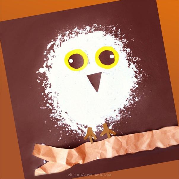 БЕЛАЯ СОВА Рисование и аппликация для малышейПолярная или, как её называют иначе, белая сова самая крупная птица из отряда совообразных в тундре. Белое оперение полярной совы маскирует её на