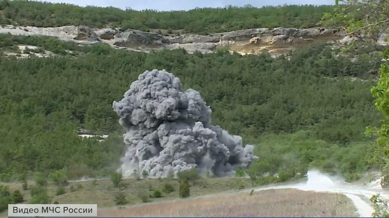 В Крыму специалисты МЧС уничтожили девять авиабомб времен Великой Отечественной войны.