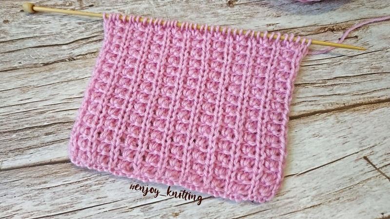 ИНДИЙСКАЯ Резинка спицами красивый эластичный узор Elastic rib knitting pattern