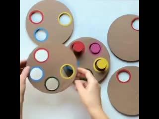 ПРОСТОЕ И ЗАНИМАТЕЛЬНОЕ РАЗВИВАЮЩЕЕ ПОСОБИЕ ДЛЯ МАЛЫШЕЙ. Развиваем мышление и учим цвета.