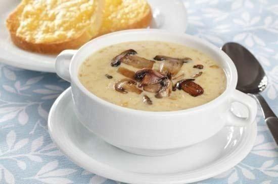 Пикантный грибной суп с сыром