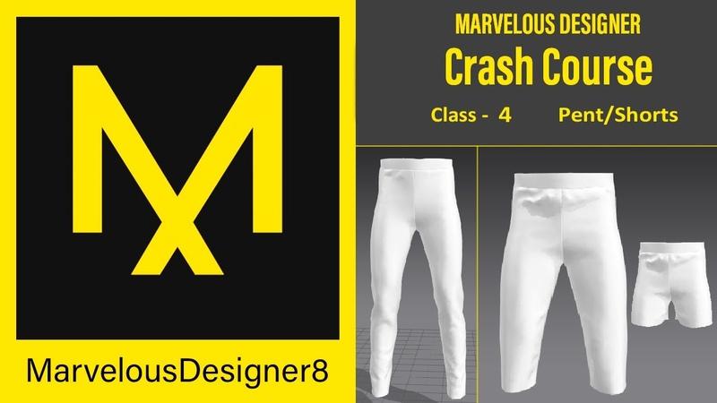 Pent shorts in marvelous designer