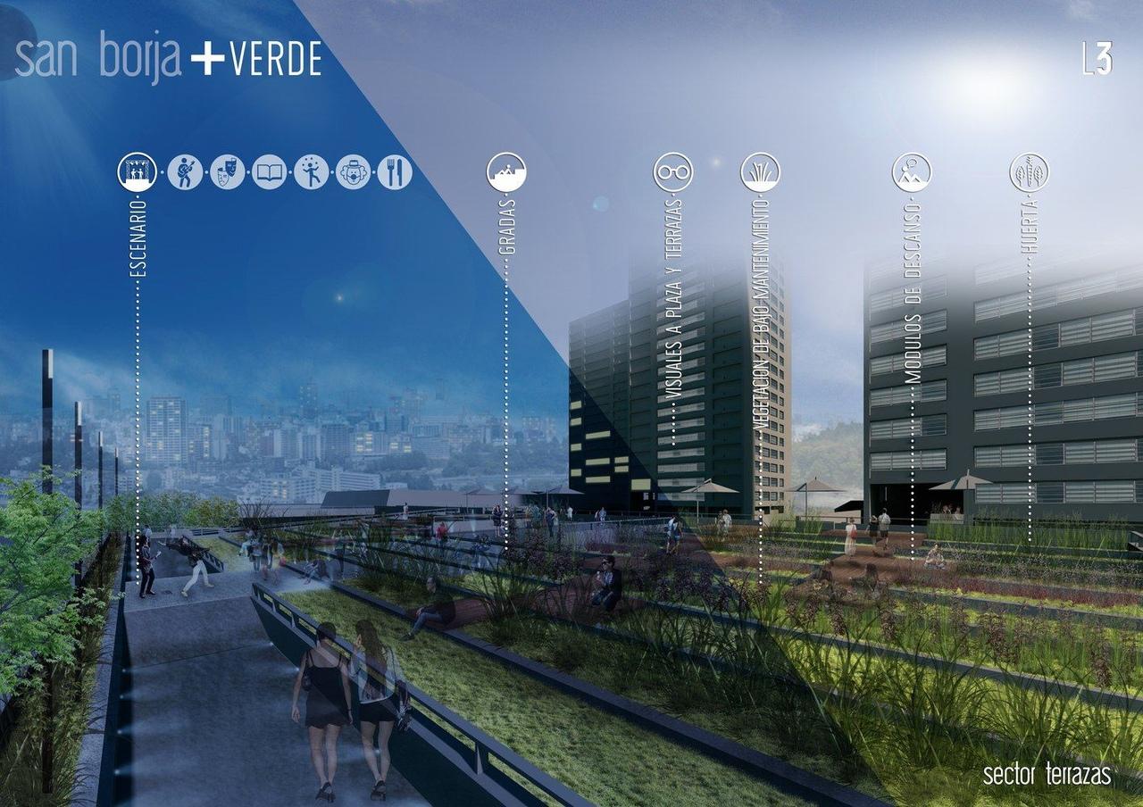 'San Borja   Verde', ganador del primer concurso de ideas para transformar Pasarelas Verdes en Santiago