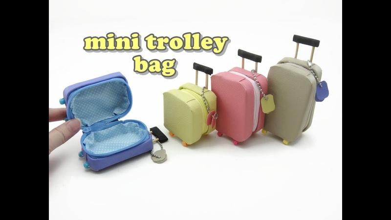 DIY Doll Accessories Mini Trolley Bag with Zipper