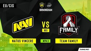 Natus Vincere vs Team Family - Game 3, Group A - ESL One Birmingham 2020 - Online Championship