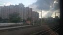 Железная дорога Киева из окна городской ЭР9М. Поезда Интерсити EJ-675. HRCS2. Украина