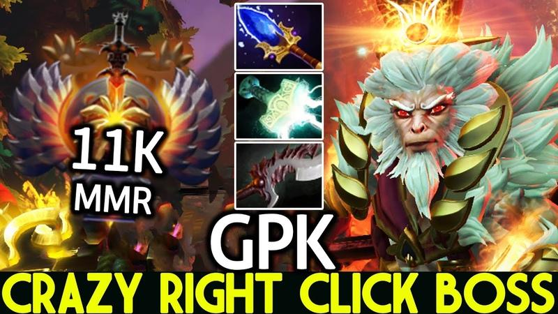 GPK Monkey King Crazy Right Click Boss Full Physical Build Dota 2