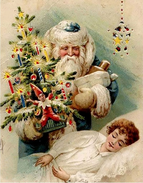 Cколько доброты в этой старой новогодней открытке!!!