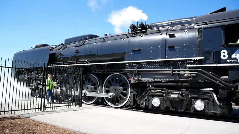 UNION PACIFIC No 4014 No 844 WHISTLE in Ogden UT Great Race 150th Anniversary UP DONE v0mHVV945bI 1080p