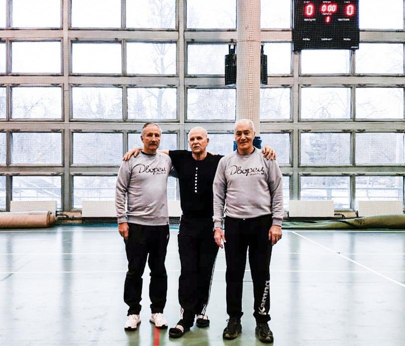 Николай Дрепенкин с первым тренером Виленом Копейкиным и Дато Данелией