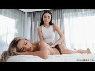 Shalina Devine, Alya Stark - Massage With A Strap-On Ending Lesbian