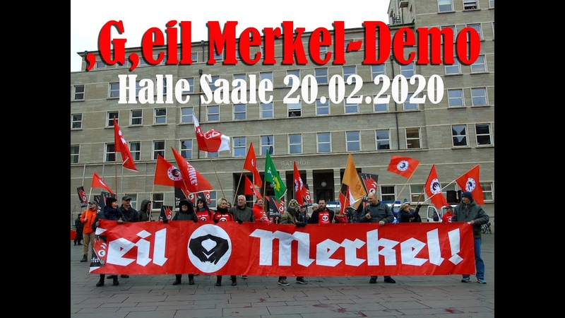 G eil Merkel Demo Halle Saale 20 02 2020