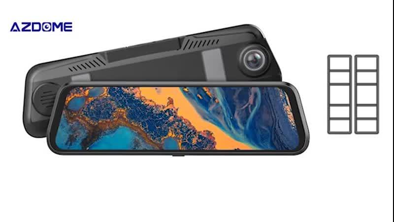 Автомобильный видеорегистратор AZDOME с камерой заднего ночного видения