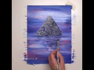 Гора Фудзияма  из пергаментной бумаги
