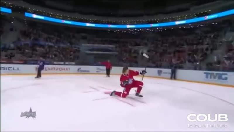 Матч Звезд КХЛ 2015 Сумасшедший буллит Гусева KHL All Star Game 2015 Sick penalty shot by Gusev