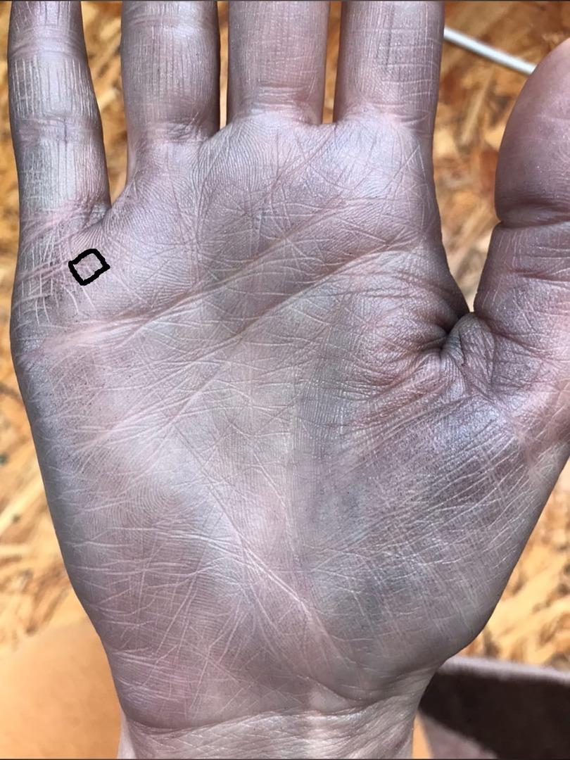 Редкие знаки на руке