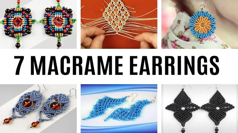 7 MACRAME EARRING IDEAS
