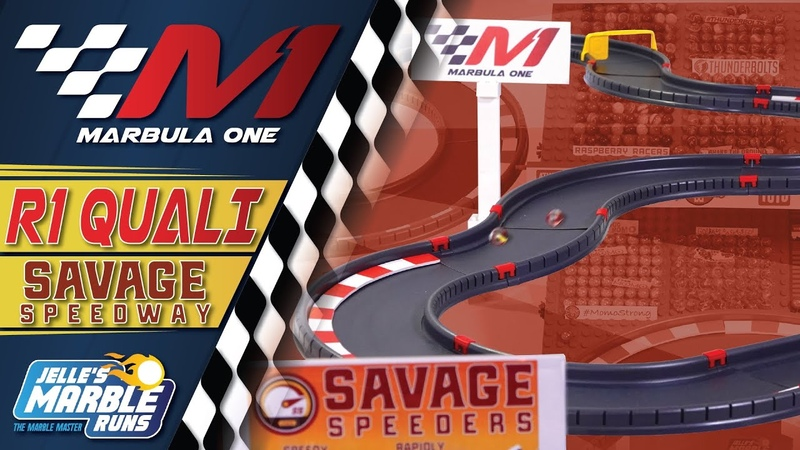 Marbula One 2020 Savage Speedway GP Qualifying S1Q1 Marble Race by Jelle's Marble Runs