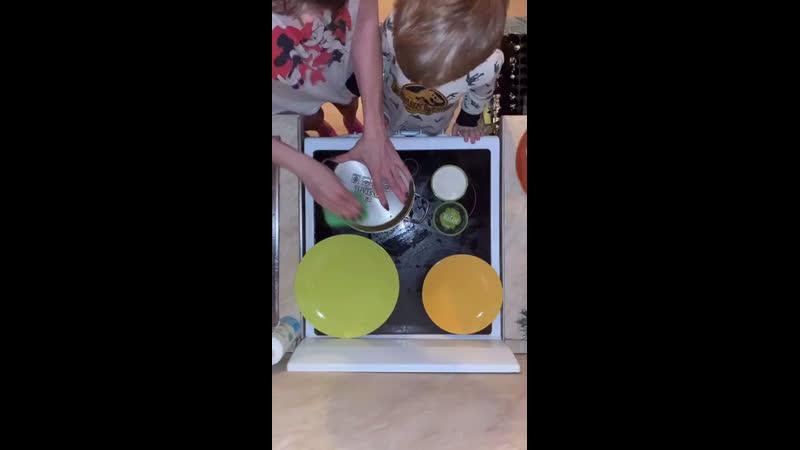 Паста Мистик и салфетка для посуды