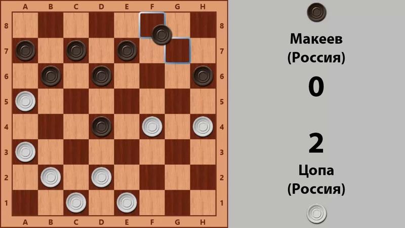 Цопа - Макеев. Чемпионат Мира по Русским шашкам 1994