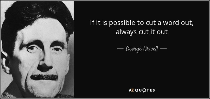 А тут - практически дословное значение: вырезать что-то откуда-то. Если слово возможно вырезать (из повествования) - всегда вырезай его.