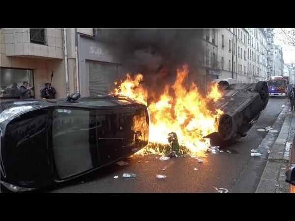 Gilets jaunes Acte 70 violentes tensions et affrontements 14 mars 2020 Paris 4K