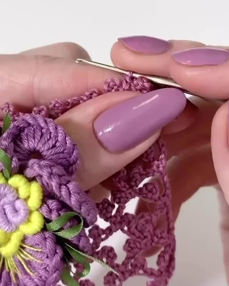 Одна из самых красивых сеточек в вязании крючком