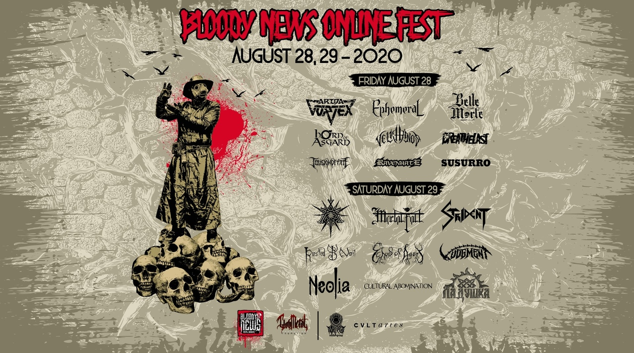 28.08- 29.08 - Bloody News Online Festival 2020!