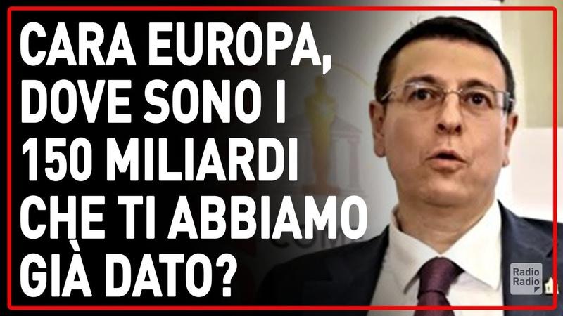 INVECE DI CHIEDERE DONAZIONI ALLA POVERA GENTE RECUPERATE I MILIARDI DATI ALL'EUROPA ► Malvezzi