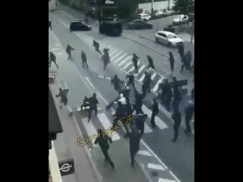 Denmark Copenhagen Hooligans attackieren Brøndby IF