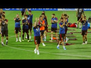 Сборная Испании провела открытую тренировку в Академии ФК Краснодар