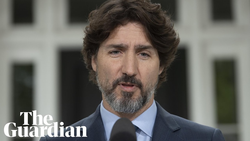 Trudeau silent for 21 seconds after question about Trump's response to protesters
