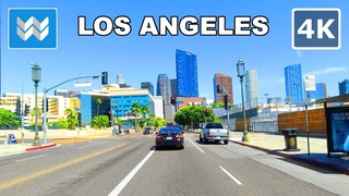 Santa Monica to Downtown Los Angeles in California 2020